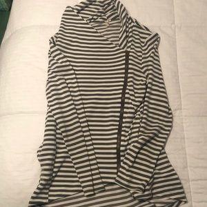 My Beloved striped side zip sweatshirt